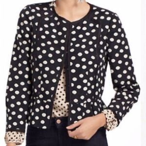 Anthropologie Elevenses Peplum Jacket Blazer